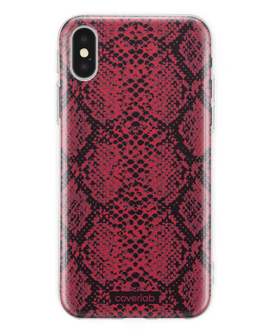 Red Snake Print iPhone Case - Coverlab