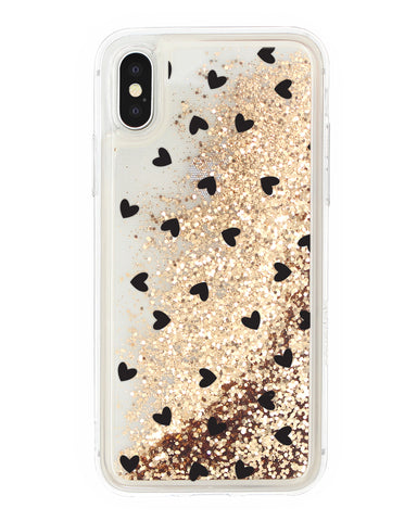 Cover Glitter Cuori iPhone - Coverlab