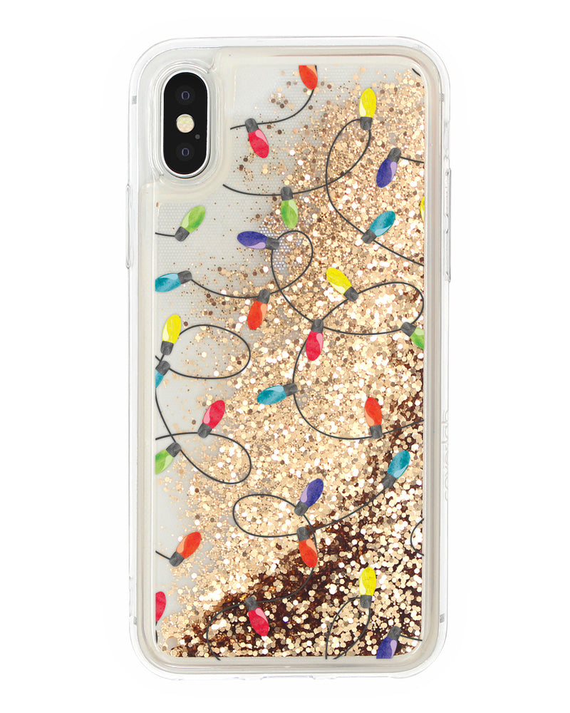 Christmas Lights Glitter iPhone Case - Coverlab