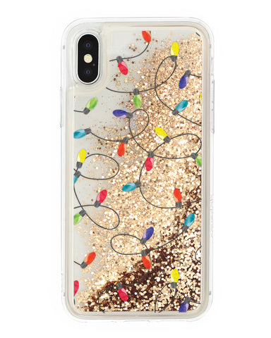 Cover Glitter Luci Natalizie iPhone - Coverlab
