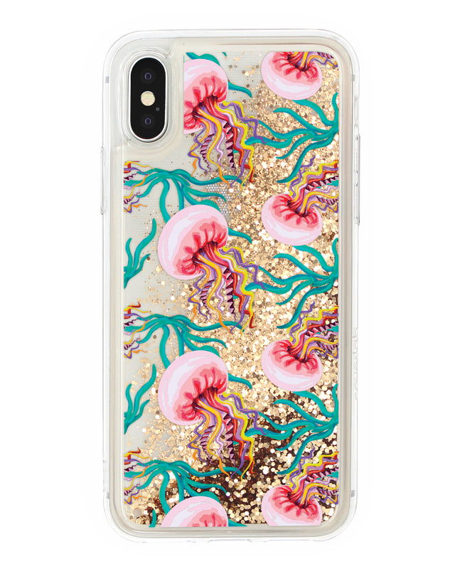 Cover Glitter Meduse iPhone - Coverlab