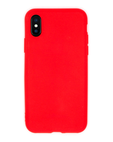Silicone Red iPhone Case - Coverlab