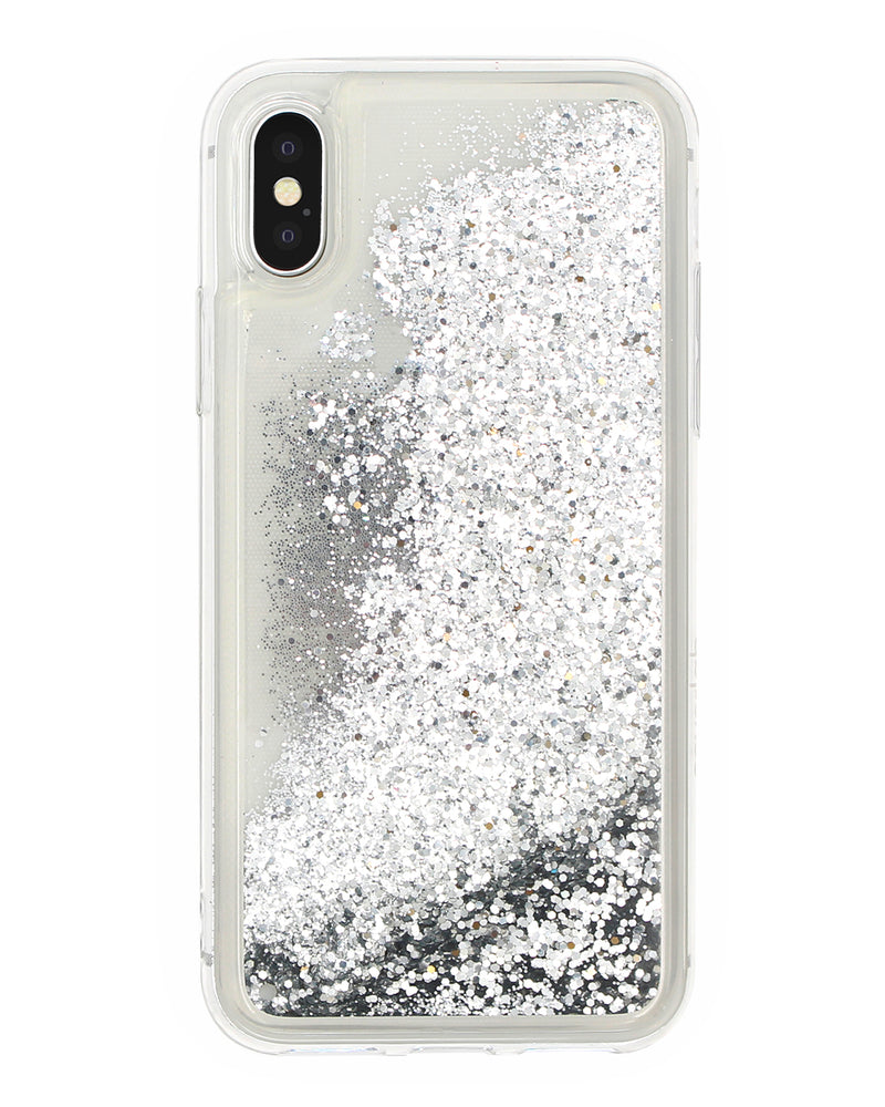 Cover Glitter Argento iPhone - Coverlab