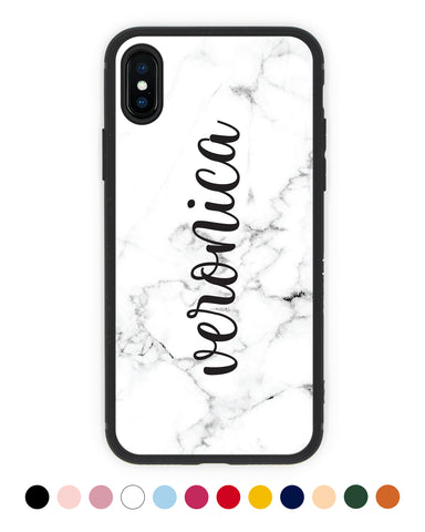 Custom Handwritten Name Marble iPhone Case - Coverlab