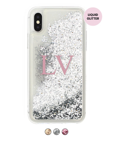 Custom Initials Glitter iPhone Case - Coverlab