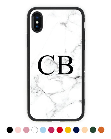 Custom Initials Marble iPhone Case - Coverlab