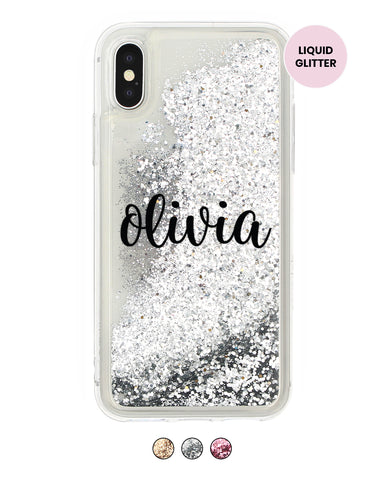Handwritten Custom Name Glitter iPhone Case - Coverlab