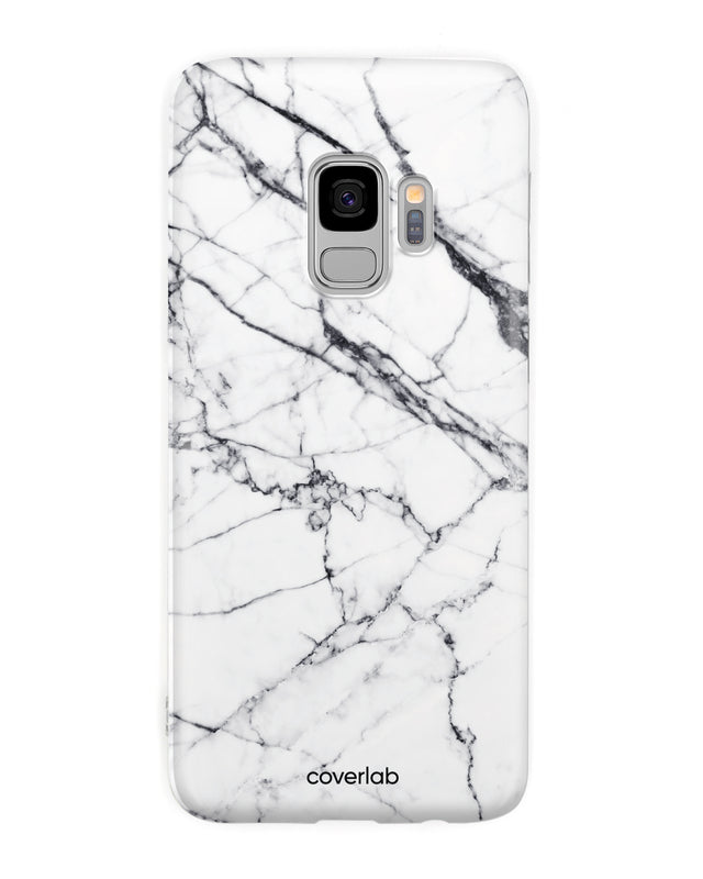 White Marble Samsung Case - Coverlab