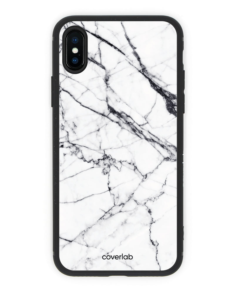 White Marble iPhone Case - Coverlab