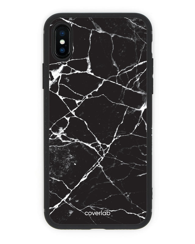 Black Marble iPhone Case - Coverlab