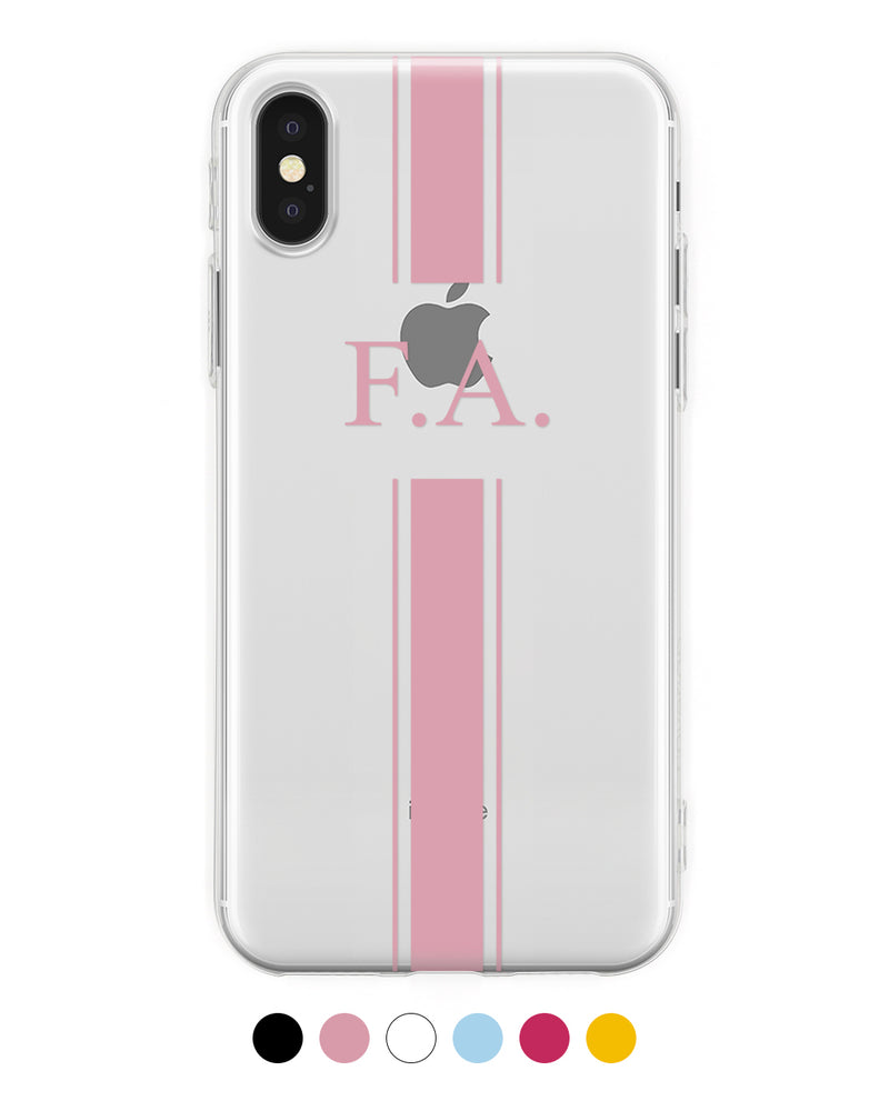 Custom Initials Stripes iPhone Case - Coverlab