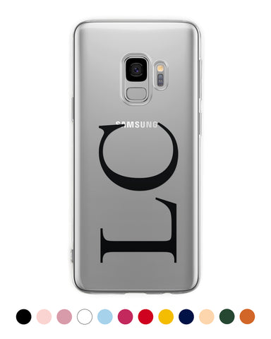 Vertical Custom Initials Samsung Case - Coverlab