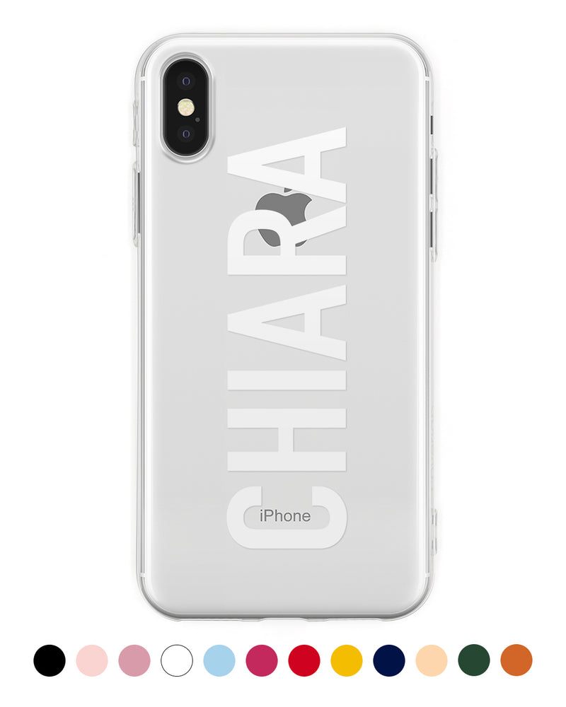 Cover Nome Verticale Personalizzata iPhone - Coverlab
