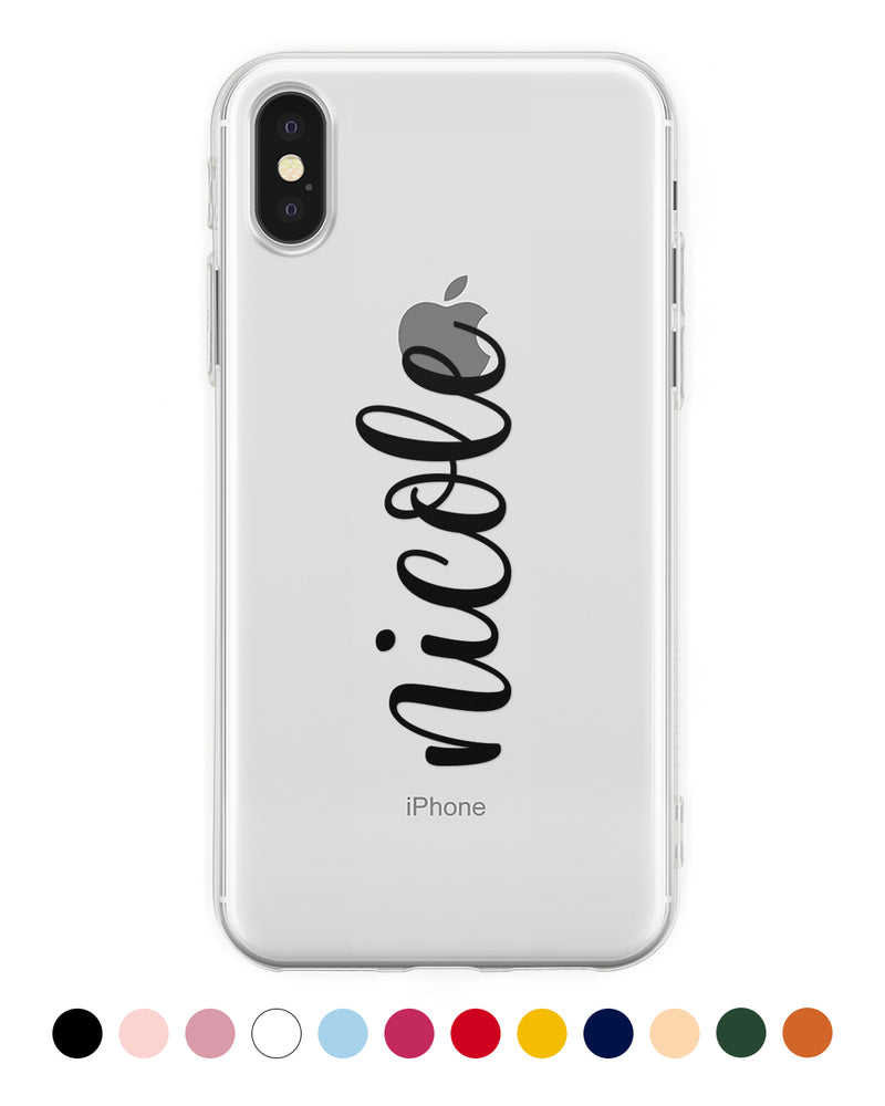Cover Nome Handwritten Verticale Personalizzata iPhone - Coverlab