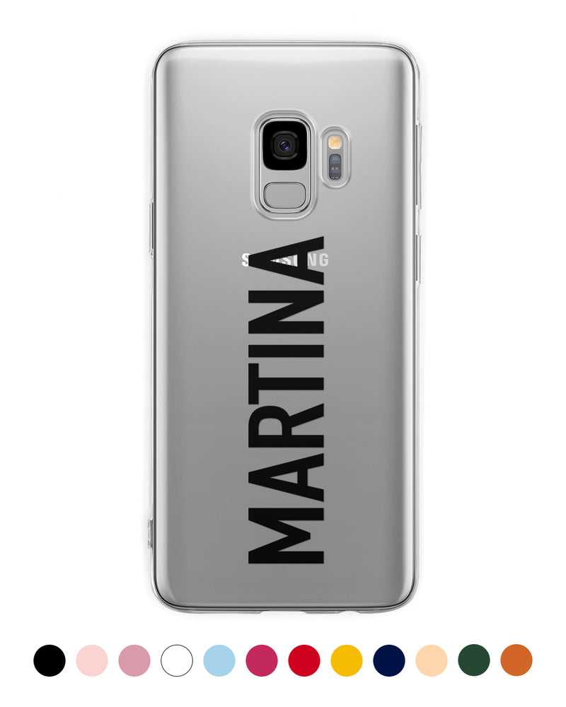 Vertical Custom Name Samsung Case - Coverlab