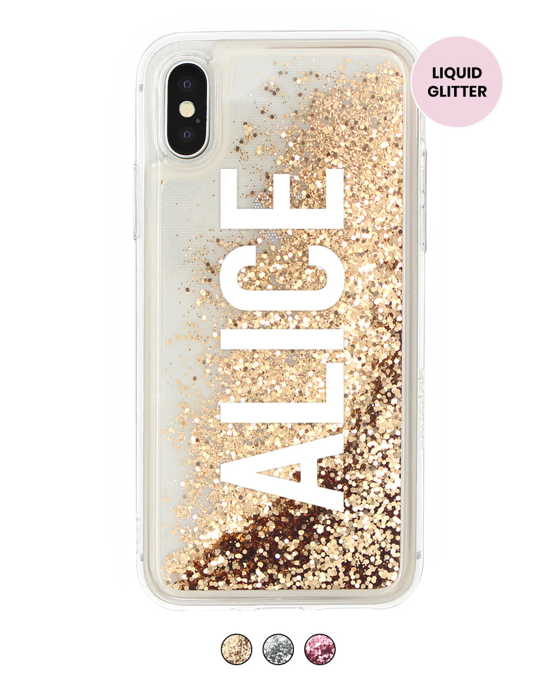Vertical Custom Name Glitter iPhone Case - Coverlab