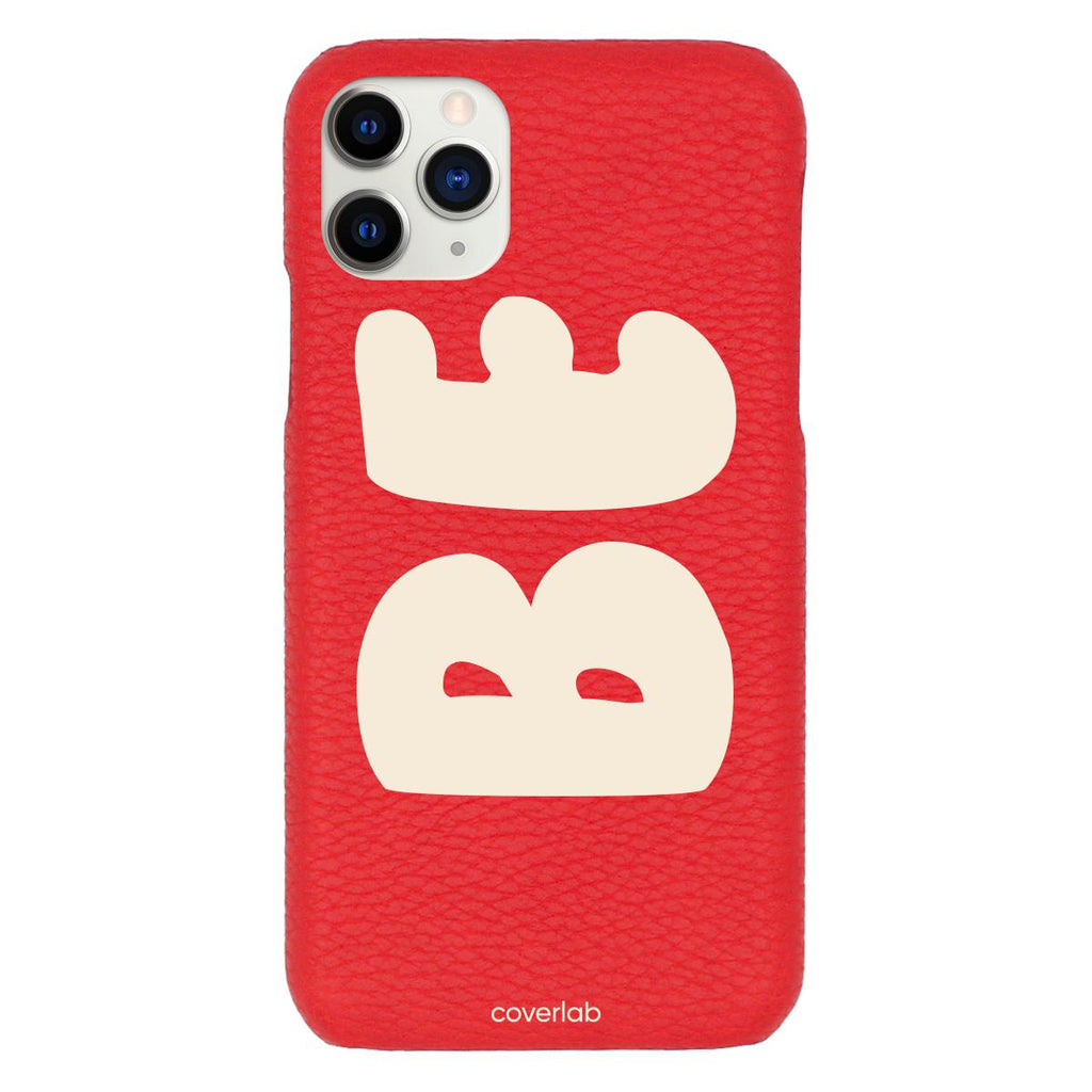 Custom Bubble Name Red Pebbled iPhone Case - Coverlab