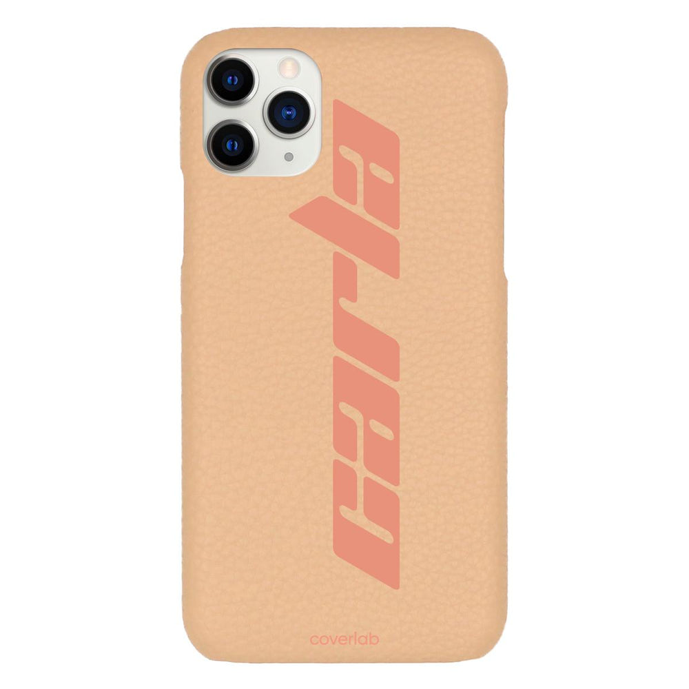 Custom Kosmos Name Beige Pebbled iPhone Case - Coverlab