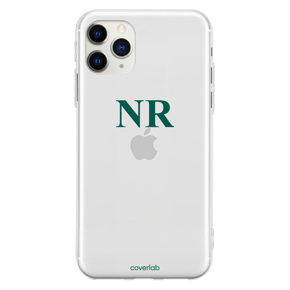 Custom Serif Initials Clear iPhone Case - Coverlab