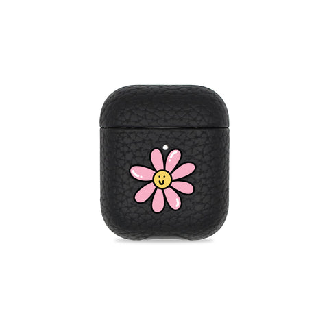 Daisy Black Pebbled AirPods Case