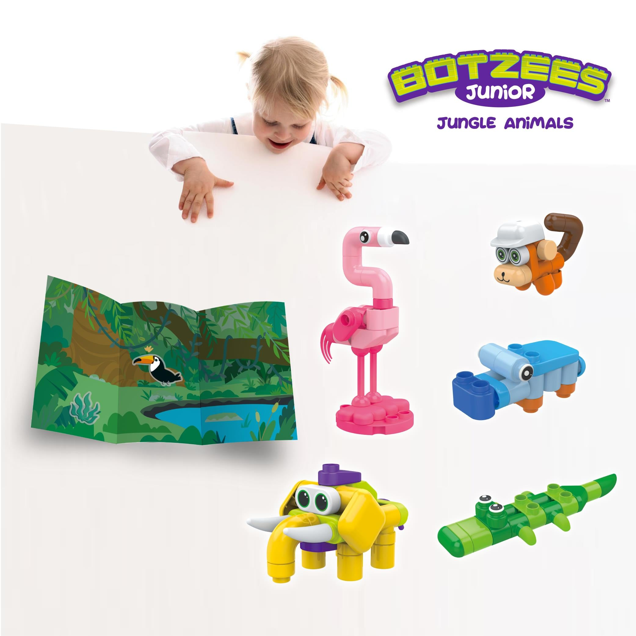 Botzees Junior - Jungle Animals Set