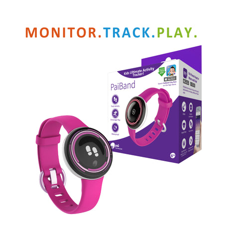 PaiBand - Kids Activity Tracker (Pink)