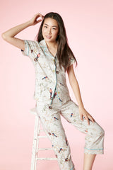 S/S Cropped PJ Set by BedHead