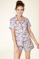Butterfly Short Sleeve & Short Pajama Light Cotton Set by BedHead