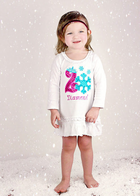Winter Wonderland Birthday Dress or Shirt