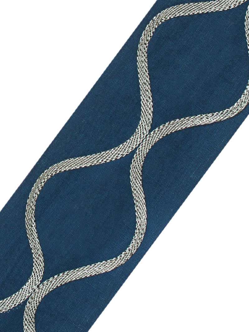 Stroheim Ogee Applique- Navy