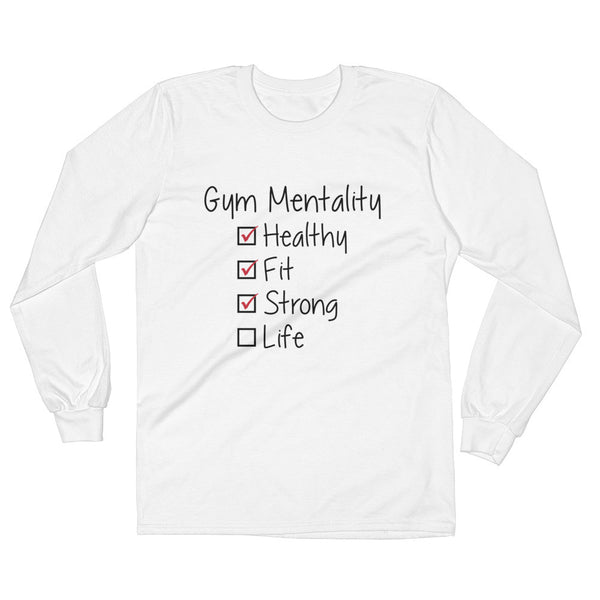 Long Sleeve No Life just gym T-Shirt