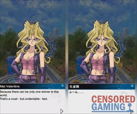 YU-GI-OH! DUEL LINKS BOOBS, CLEAVAGE, AND WEAPONS CENSORED IN WEST