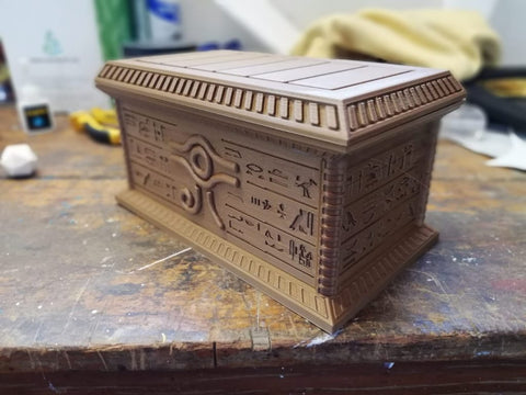 Store your Yu-Gi-Oh! cards in this 3D printed Millennium Puzzle box