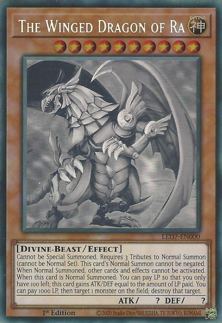 Yugioh The Winged Dragon of Ra / Ghost - LED7-EN000 - 1st
