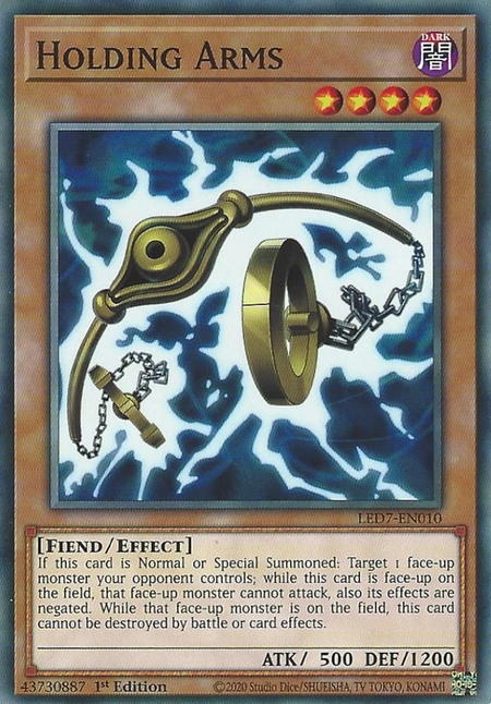 Yugioh Holding Arms / Common - LED7-EN010 - 1st