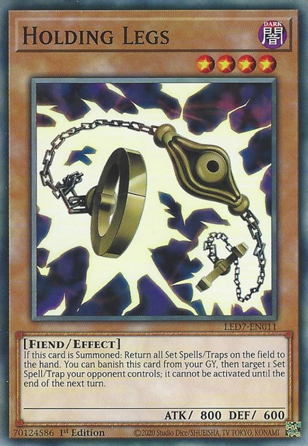 Yugioh Holding Legs / Common - LED7-EN011 - 1st