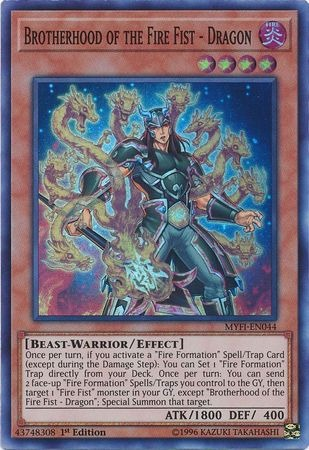 Brotherhood of the Fire Fist - Dragon / Super - MYFI-EN044 - 1st