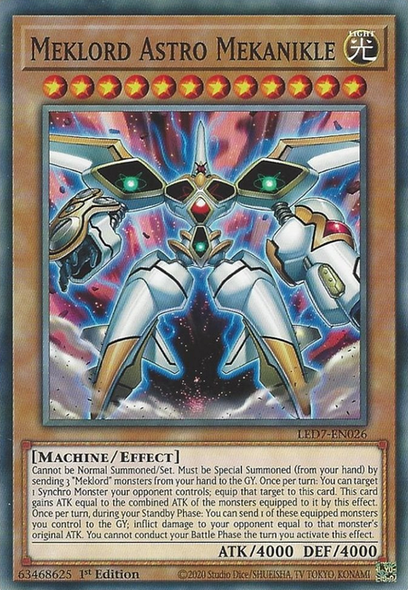 Yugioh Meklord Astro Mekanikle / Common - LED7-EN026 - 1st