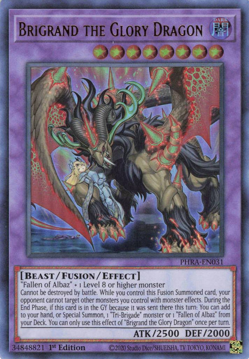 Yugioh Brigrand the Glory Dragon / Ultra - PHRA-EN031 - 1st