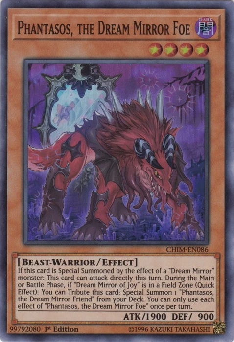PHANTASOS, THE DREAM MIRROR FOE  / SUPER-CHIM-EN086-1st