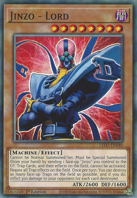 Yugioh Jinzo - Lord / Common - LED7-EN040 - 1st