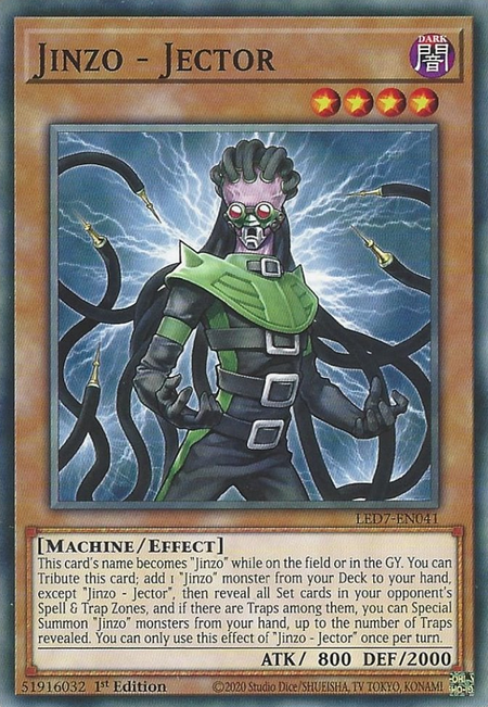 Yugioh Jinzo - Jector / Common - LED7-EN041 - 1st