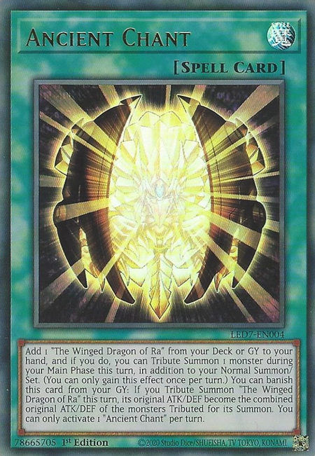 Yugioh Ancient Chant / Ultra - LED7-EN004 - 1st