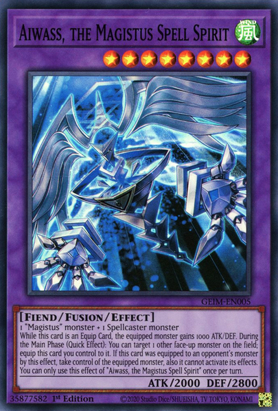 Yugioh Aiwass, the Magistus Spell Spirit / Super - GEIM-EN005 - 1st