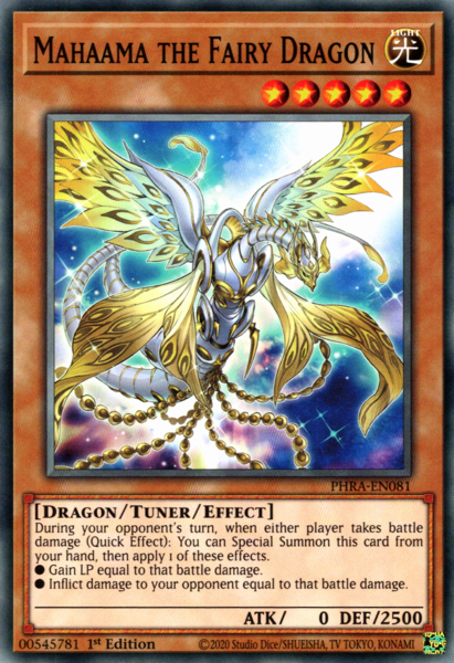 Yugioh Mahaama the Fairy Dragon / Common - PHRA-EN081 - 1st