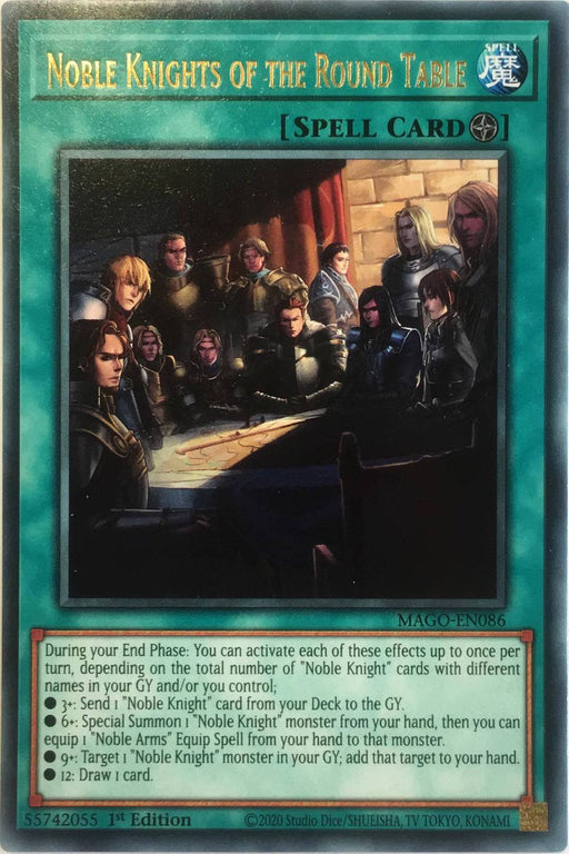 Yugioh Noble Knights of the Round Table / Rare - MAGO-EN086 - 1st
