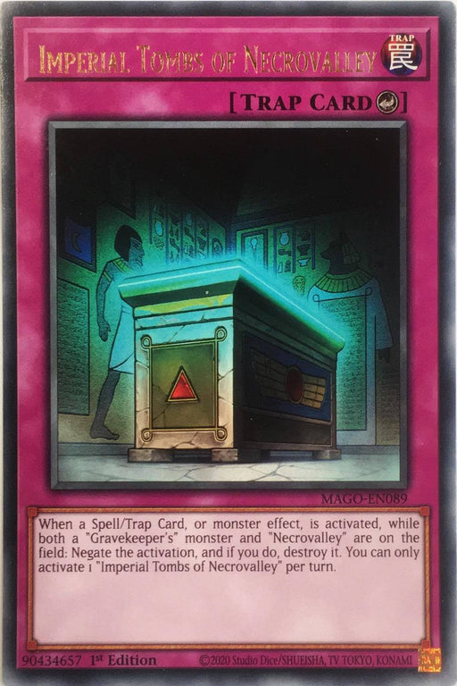 Yugioh Imperial Tombs of Necrovalley / Rare - MAGO-EN089 - 1st