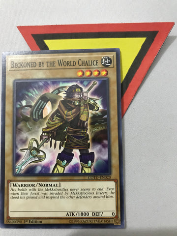 BECKONED BY THE WORLD CHALICE - COMMON - COTD-EN020 - 1ST
