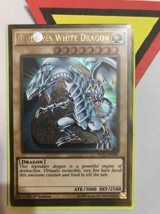 BLUE-EYES WHITE DRAGON - GOLD - PGL2-EN080 - 1ST