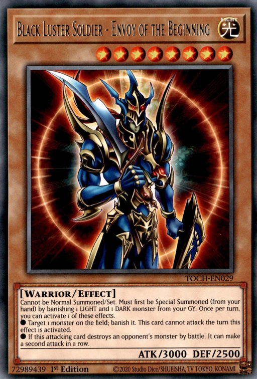Black Luster Soldier - Envoy of the Beginning / Rare - TOCH-EN029 - Unlimited